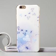 Пластиковый чехол для iPhone 6/6S с рельефными цветами