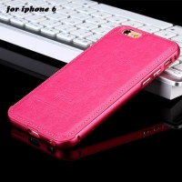Алюминиевый бампер + розовая накладка для iPhone 6/6S