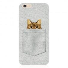 """Силиконовый чехол для  iPhone 6/6S с принтом """"Кот в кармане"""""""