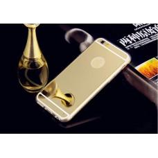 Зеркальный силиконовый чехол для  iPhone 6/6S (позолоченный)