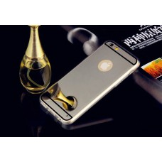 Зеркальный силиконовый чехол для  iPhone 6/6S (черный)