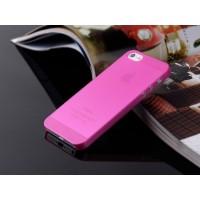 Ультратонкий чехол для iРhone 5/5S  (розовый)