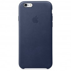 Apple leather case iphone 6 6s midnight blue (синий) купить Киев Украина - apple iphone 6 leather case