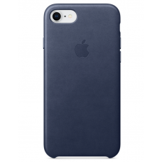 Apple leather case iphone 7 midnight blue (синий) купить Киев Украина - apple iphone 7 leather case