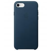 Кожаный чехол Apple Leather Case Cosmos Blue для iPhone 7/iPhone 8 (копия)