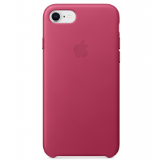 Кожаный чехол Apple Leather Case Pink Fuchsia для iPhone 7/iPhone 8 (копия)