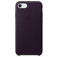 Кожаный чехол Apple Leather Case Dark Aubergine для iPhone 7/iPhone 8 (копия)