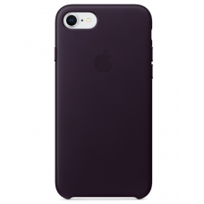 Кожаный чехол Apple Leather Case Dark Aubergine для iPhone 7/iPhone 8 (копия)