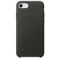 Кожаный чехол Apple Leather Case Charcoal Gray для iPhone 7/iPhone 8 (копия)