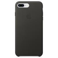 Кожаный чехол Apple Leather Case Charcoal Gray для iPhone 7plus/iPhone 8plus (копия)