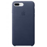 Кожаный чехол Apple Leather Case Midnight Blue для iPhone 7plus/iPhone 8plus (копия)