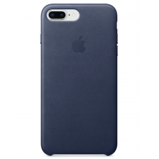 Кожаный чехол Apple Leather Case Midnight Blue для iPhone 7plus/iPhone 8plus (копия)