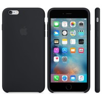 Силиконовый чехол Apple Silicon Case Black для iPhone 6 Plus/6s Plus (копия)