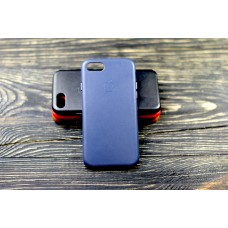 Люкс копия чехла Apple Leather Case Midnight Blue для iPhone 7/8