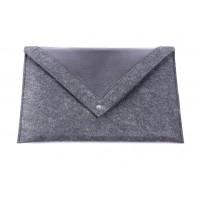 Черный чехол-конверт для Macbook Air  13,3 и Pro 13,3 с треугольной крышкой (GM23)