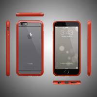 Прозрачный чехол COLORANT С1 Color Case Red (Красный) PatchWork для iPhone 6/6s