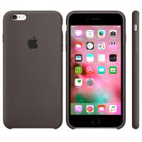Силиконовый чехол Apple Silicon Case Dark Brown для iPhone 6 Plus/6s Plus (копия)