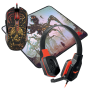 Игровой набор Defender Nemesida MHP-128 мышь+гарнитура+ковер