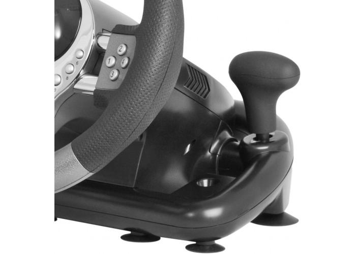 Игровой руль Defender Forsage GTR USB, 12 кнопок, рычаг передач
