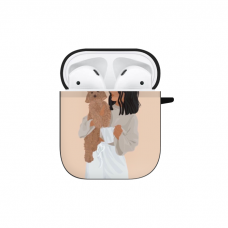 Силиконовый чехол Softmag Case Girl width white dog для AirPods 1/2