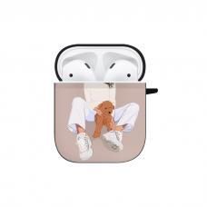 Силиконовый чехол Softmag Case Girl width dog для AirPods 1/2