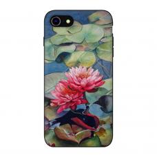 Силиконовый чехол Softmag Case Flower mix red для iPhone 7/8