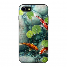 Силиконовый чехол Softmag Case Red fish для iPhone 7/8