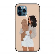 Силиконовый чехол Softmag Case Girl width dog для iPhone 12 Pro Max