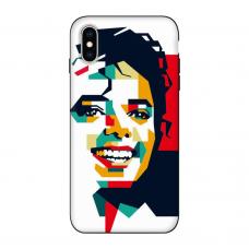 Силиконовый чехол Softmag Case Michael Jackson для iPhone X/Xs