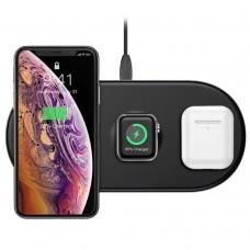Беспроводное зарядное устройство Baseus Smart 3in1 iPhone+iWatch+AirPods (18W) черный