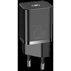 Сетевое зарядное устройство Baseus Super Silicone PD 20W 1Type-C черный