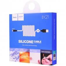 Кабель USB Hoco X21 Silicone microUSB 1m белый