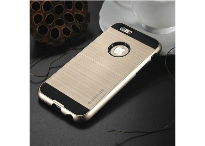 Позолоченный бампер с накладками для iPhone 6/6S