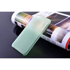 Пластиковый ультратонкий чехол для iPhone 6/6S (Салатовый)