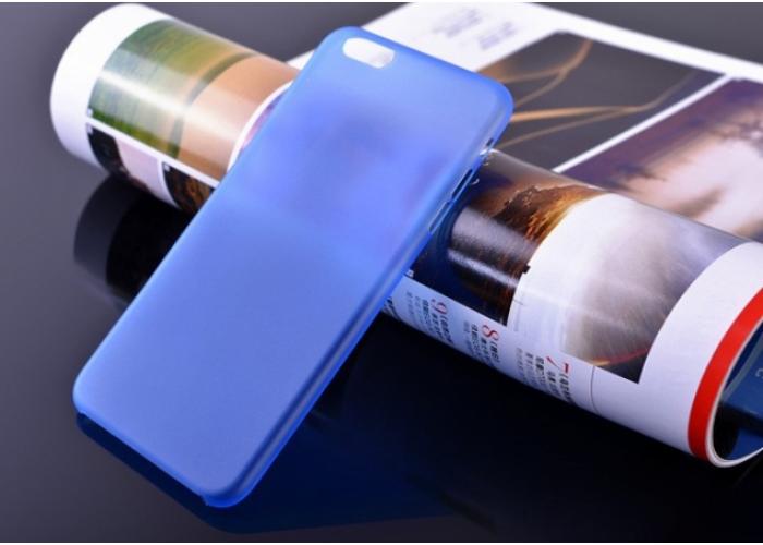 Пластиковый ультратонкий чехол для iPhone 6/6S (Синий)