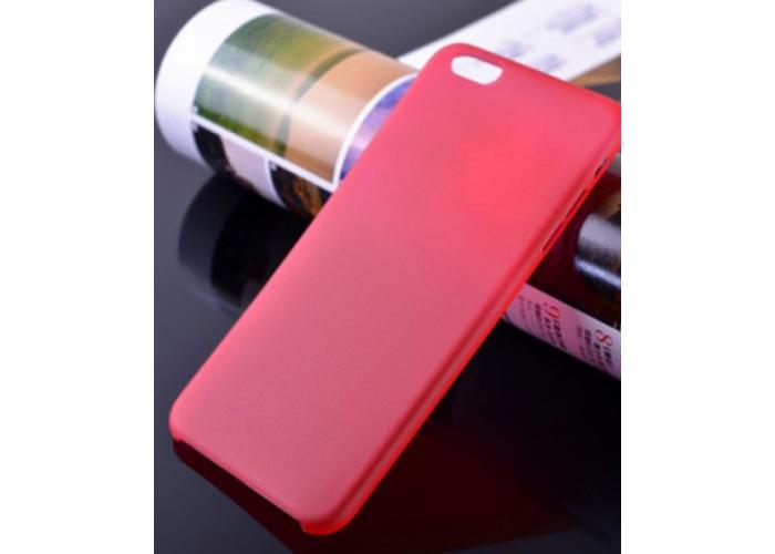 Пластиковый ультратонкий чехол для iPhone 6/6S (Красный)