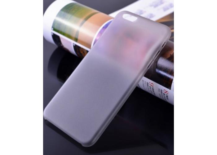 Пластиковый ультратонкий чехол для iPhone 6/6S (Серый)