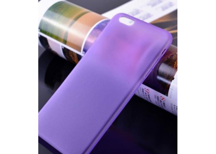 Пластиковый ультратонкий чехол для iPhone 6/6S (Фиолетовый)