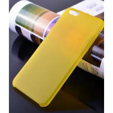 Пластиковый ультратонкий чехол для iPhone 6/6S (Желтый)