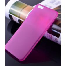 Пластиковый ультратонкий чехол для iPhone 6/6S (Розовый)