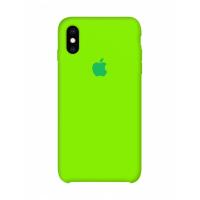 Силиконовый чехол Apple Silicone Case Juicy Green для iPhone Х/Xs