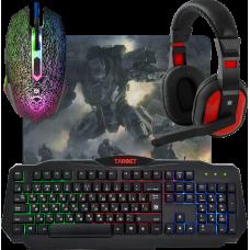 Игровой набор Defender Target MKP-350 мышь+клавиатура+гарнитура+ков.