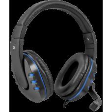 Игровая гарнитура Defender Warhead G-160 черный+синий, кабель 2,5 м