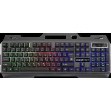 Проводная игровая клавиатура Defender IronSpot GK-320L RU,радужная подсветка
