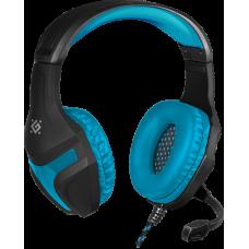 Игровая гарнитура Defender Scrapper 500 синий + черный, кабель 2 м