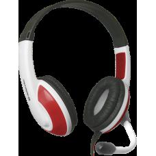 Игровая гарнитура Defender Warhead G-120 красный + белый, кабель 2 м