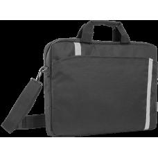 """Сумка для ноутбука Defender Shiny 15''-16"""" черный, светоотражающая полоса"""