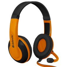 Игровая гарнитура Defender Warhead G-120 черный + оранжевый, кабель 2 м