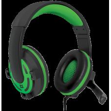 Игровая гарнитура Defender Warhead G-300 зеленый, кабель 2,5 м