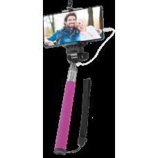 Штатив для селфи Defender Selfie Master SM-02 розовый, проводной, 20-98 см